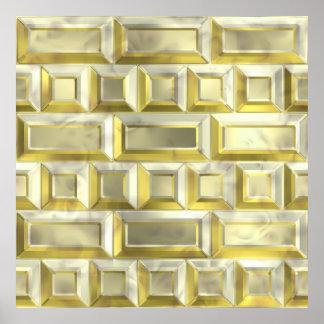 Ladrillo del oro impresiones