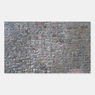 Ladrillo mezclado y pared de piedra rectangular altavoces