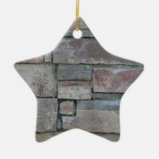 Ladrillo para el albañil o la capa de ladrillo adorno navideño de cerámica en forma de estrella