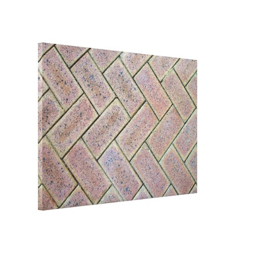 Ladrillo que pavimenta textura impresiones en lienzo estiradas