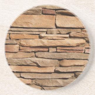 Ladrillo, roca, serie de piedra---Práctico de cost Posavasos Diseño