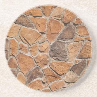 Ladrillo, roca, serie de piedra---Práctico de cost Posavasos Personalizados