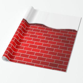 Ladrillo rojo con la deriva de la nieve papel de regalo
