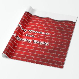 Ladrillo rojo con la deriva de la nieve - top papel de regalo