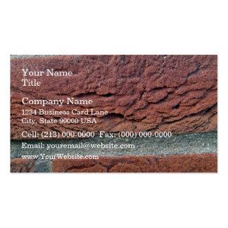 Ladrillo rojo plantilla de tarjeta de negocio