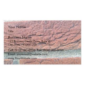 Ladrillo rojo tarjetas personales