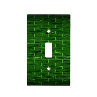 Ladrillo verde horizontal - cubierta de interrupto placa para interruptor
