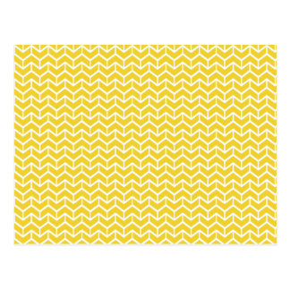 Ladrillos amarillos de la raspa de arenque tarjetas postales