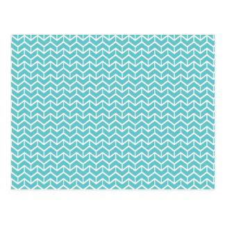 Ladrillos azules de la raspa de arenque tarjeta postal