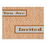 Ladrillos de Brown Invitación 10,8 X 13,9 Cm