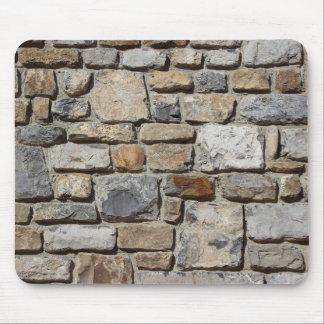 Ladrillos de la pared de piedra alfombrillas de raton