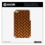 Ladrillos de la raspa de arenque de Brown Skins Para iPod Touch 4G
