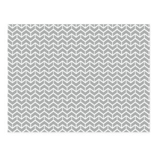 Ladrillos grises de la raspa de arenque postales