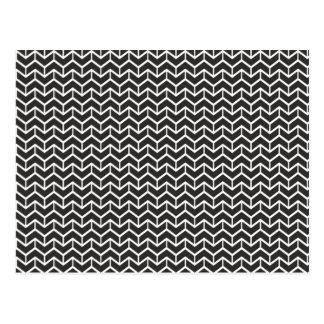 Ladrillos negros de la raspa de arenque postales