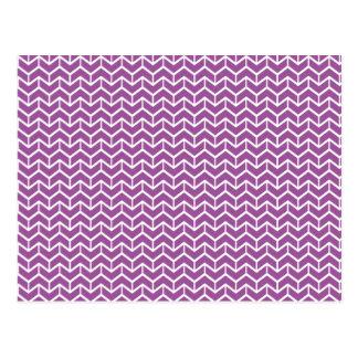 Ladrillos púrpuras de la raspa de arenque tarjeta postal