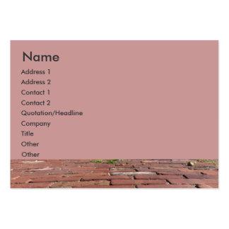 Ladrillos rojos antiguos plantilla de tarjeta de visita
