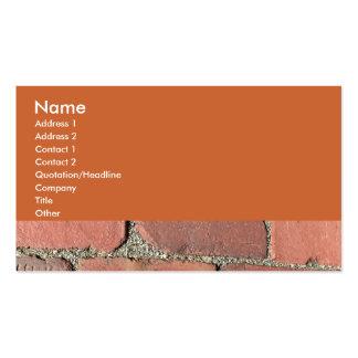 Ladrillos rojos antiguos tarjeta de negocio