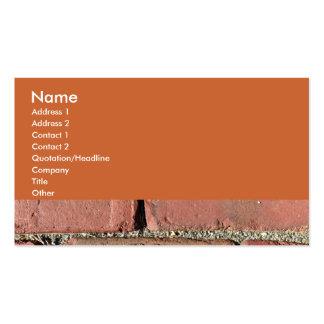 Ladrillos rojos antiguos plantilla de tarjeta de negocio