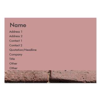 Ladrillos rojos antiguos plantilla de tarjeta personal