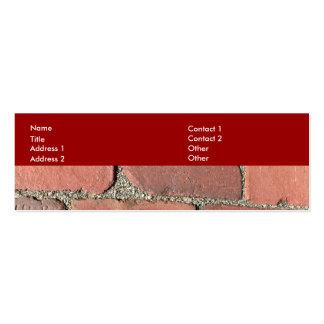 Ladrillos rojos antiguos tarjeta de visita