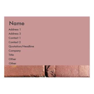 Ladrillos rojos antiguos plantillas de tarjeta de negocio