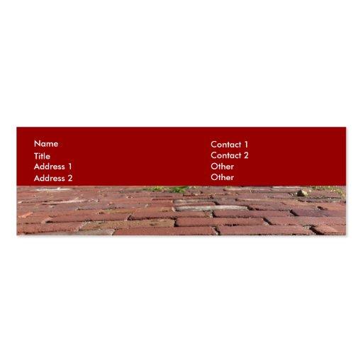 Ladrillos rojos antiguos tarjetas de visita mini