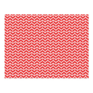 Ladrillos rojos de la raspa de arenque postal