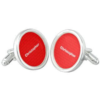 Ladrillos rojos personalizados mancuernillas