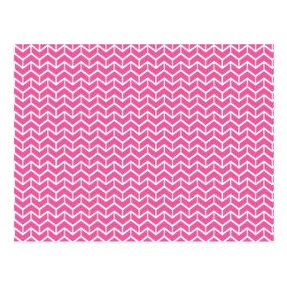 Ladrillos rosados de la raspa de arenque postales