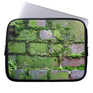 Ladrillos verdes de la naturaleza funda portátil
