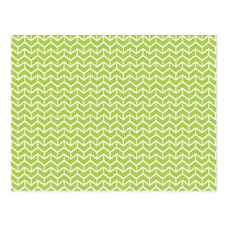 Ladrillos verdes de la raspa de arenque tarjetas postales