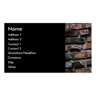 Ladrillos y cemento o mortero 2 tarjetas de visita