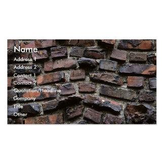 Ladrillos y cemento o mortero plantillas de tarjetas personales