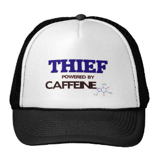 Ladrón accionado por el cafeína gorras