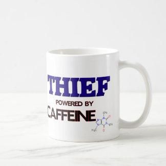 Ladrón accionado por el cafeína tazas