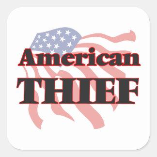 Ladrón americano pegatina cuadrada