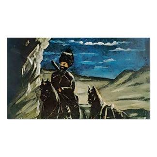 Ladrón con un caballo robado de Niko Pirosmani Tarjetas De Visita