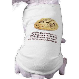 ¡Ladrón confesado uno mismo de la galleta! - Camis Playera Sin Mangas Para Perro