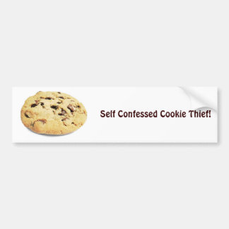 ¡Ladrón confesado uno mismo de la galleta! - Pegat Pegatina Para Auto