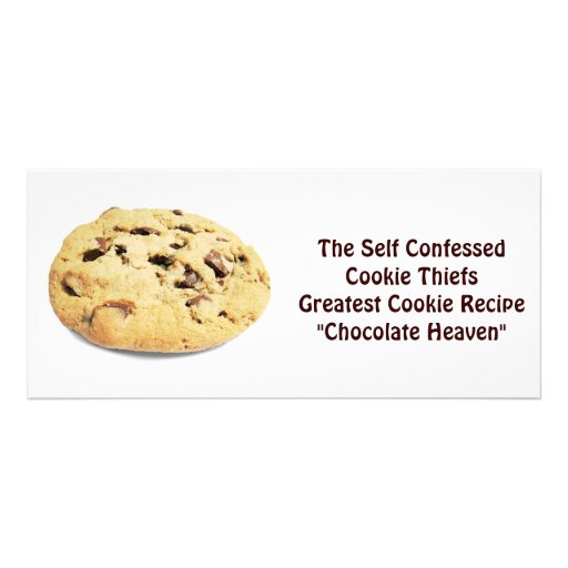 ¡Ladrón confesado uno mismo de la galleta! - Tarje Tarjetas Publicitarias