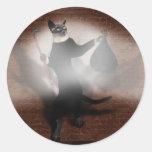 Ladrón de gato etiquetas redondas