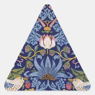Ladrón de la fresa de William Morris Pegatina Triangular