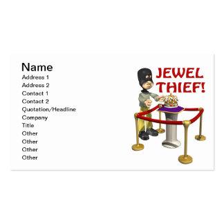 Ladrón de la joya tarjetas de visita