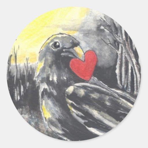 Ladrón del corazón pegatinas redondas