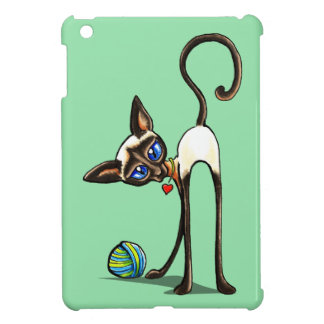 Ladrón del hilado del gato siamés