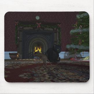 Ladrón del navidad alfombrillas de ratón