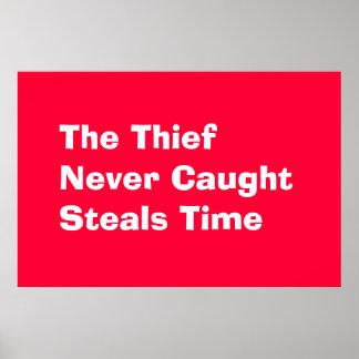 Ladrón del tiempo póster