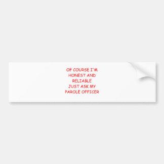 ladrón honesto etiqueta de parachoque