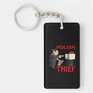 Ladrón polaco llavero rectangular acrílico a doble cara