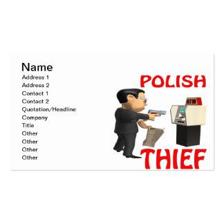 Ladrón polaco tarjetas de visita
